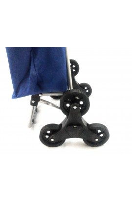 Carrello Shoppy Tris Blu Dealux Con Tre Ruote